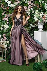 Женское Платье нарядное в пол с разрезом