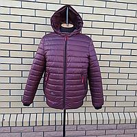 Мужская демисезонная куртка бомбер с капюшоном размеры 50-60