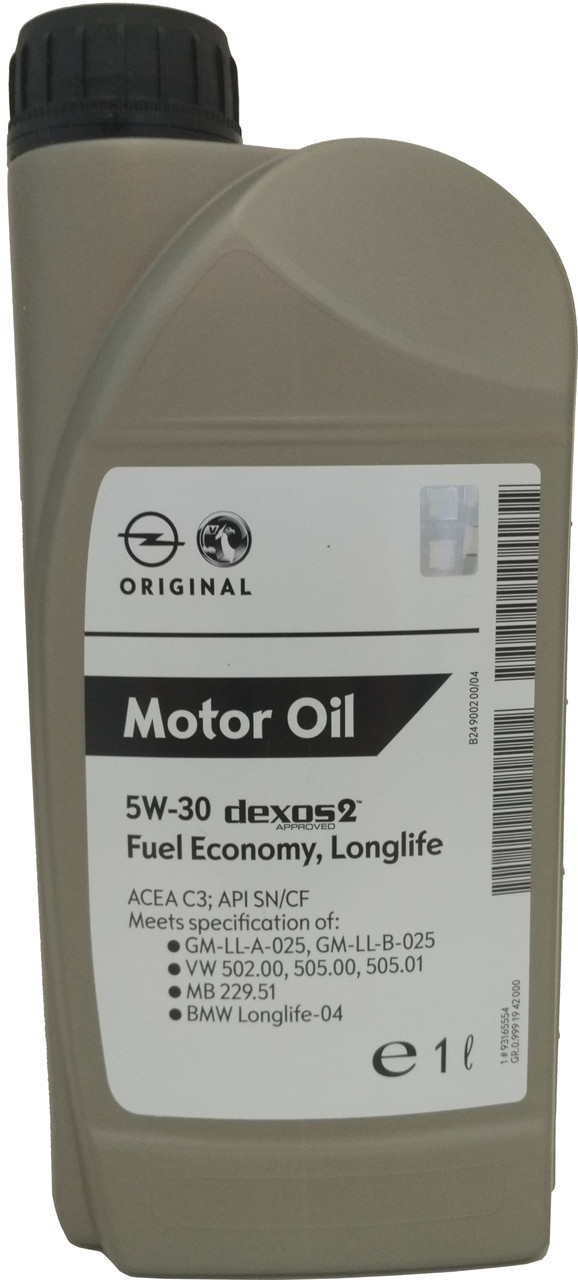 Моторное масло General Motors Dexos2 5W-30 1 л