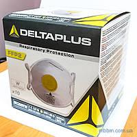 Маска-респиратор Delta Plus M1200VW FFP2 с клапаном выдоха и носовым зажимом