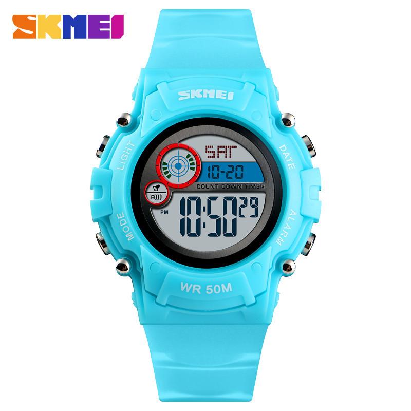 Skmei 1477 голубые детские спортивные часы