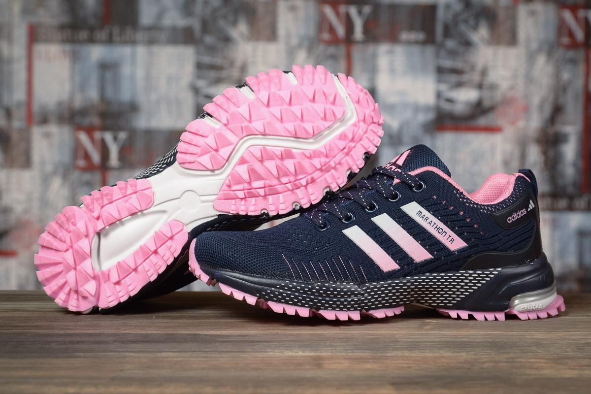 Купить Кроссовки женские Adidas Marathon TN синие, АдиДас Марафон, дышащий материал, прошиты. Код DO-17008 40