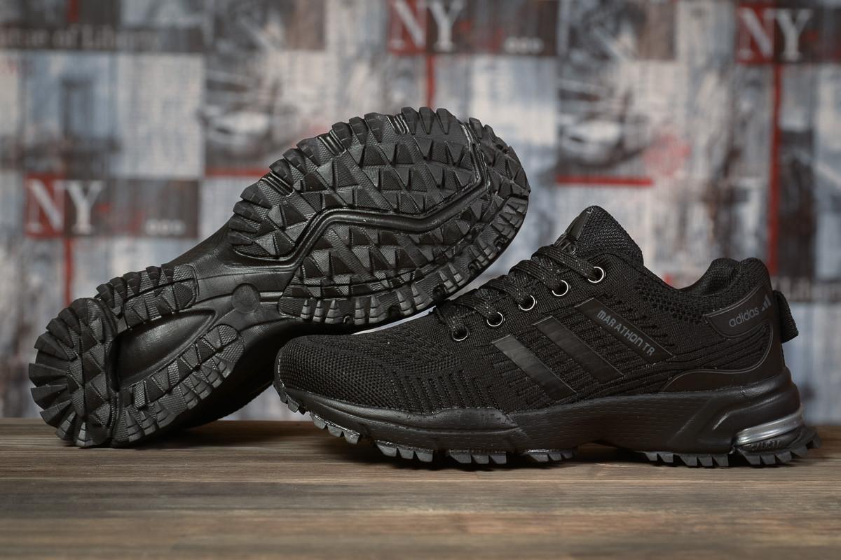 Купить Кроссовки женские Adidas Marathon TN черные, АдиДас Марафон, дышащий материал, прошиты. Код DO-17009 40