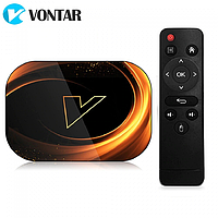 Смарт ТВ бокс Vontar X3 4/32Гб Amlogic S903x3 8K Wi-Fi 2.4/5ГГц BT 1ГГбит LAN Android