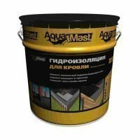 """Мастика бітумно-гумова """"Гідроізоляція для покрівлі"""" Аквамаст (AquaMast) 18 кг, фото 1"""