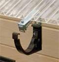 Кронштейн жолоба ПВХ водостічної системи Марлею (Marley) СONTINENTAL 125 мм антрацит