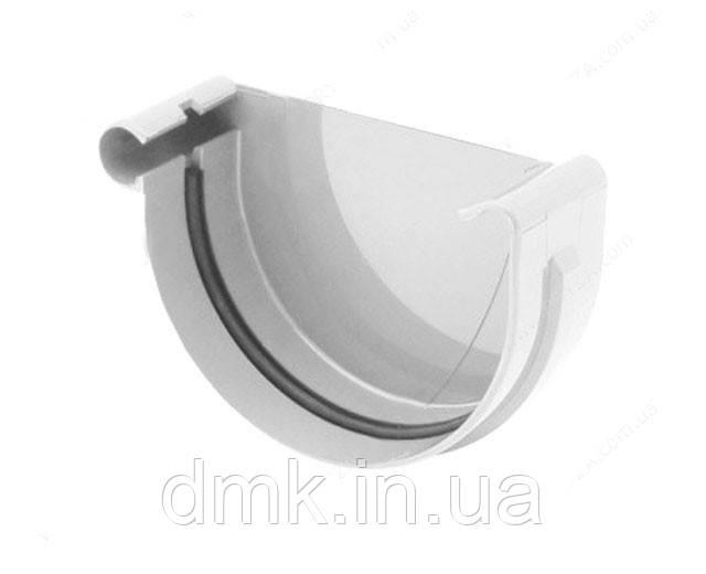 Заглушка ринви ліва водостічної системи Бриза (Bryza) 150 мм білий
