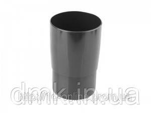 Муфта труби водостічної системи Марлею (Marley) СONTINENTAL 105 мм антрацит