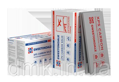 Экструдированный пенополистирол XPS CARBON SOLID  500  1180х580х50 (0,27376 м3/8 плит)