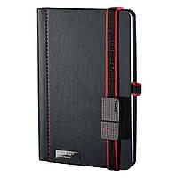 Записна книжка Туксон USB А5 (LanyBook), білий блок в клітку, кожзам + флешка 4 Гб., чорна, фото 1
