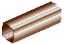 Труба водосточной системы Хантер (Hunter) Регент 74 мм коричневый