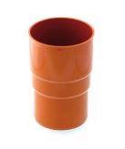Муфта желоба водосточной системы Бриза (Bryza) 125 мм кирпичный