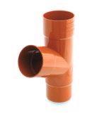 Тройник водосточной системы Бриза (Bryza) 90/90/90 мм кирпичный