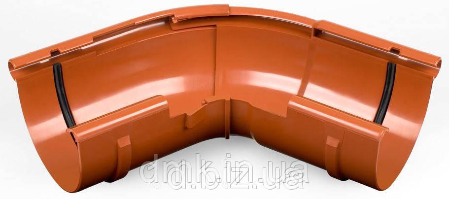 Угол наружный регулируемый 120-145 град., водосточной системы Бриза (Bryza) 125 мм кирпичный