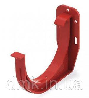 Держатель желоба ПВХ водосточной системы Бриза (Bryza) 125 мм красный