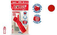 Рукавички латексні Comfort (З бавовняної підкладкою) XL - Bonus+, фото 1
