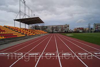 Бесшовное резиновое покрытие для мультиспортивных площадок EPUFLOOR BP-1, фото 2