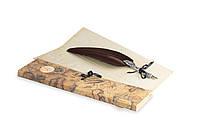 Перо гусиное для каллиграфии Dallaiti Piu32 коричневый