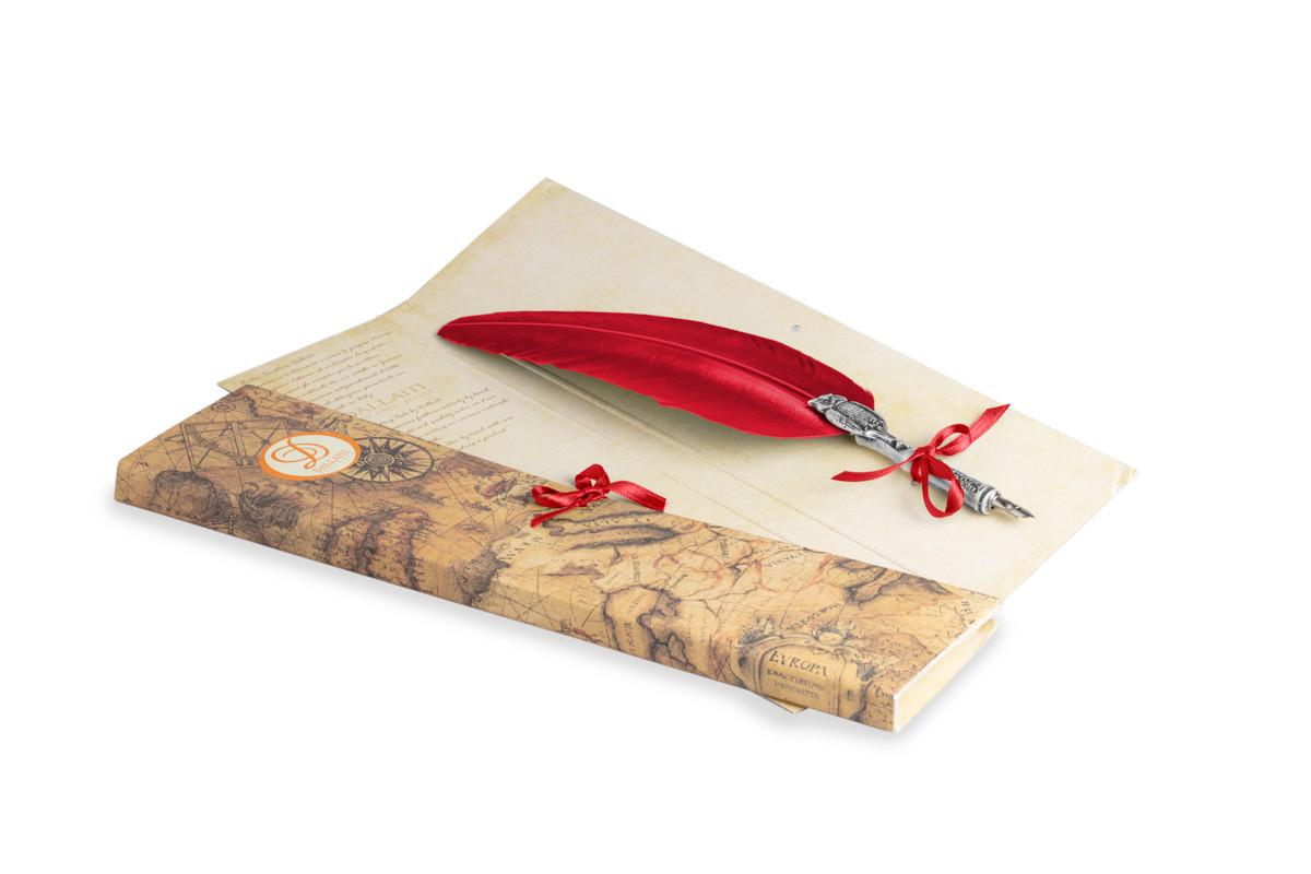 Перо гусиное для каллиграфии Dallaiti Piu32 красный