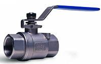 Кран шаровой муфтовый нержавеющая сталь внутр-внутр резьба Ду 65 AISI 304