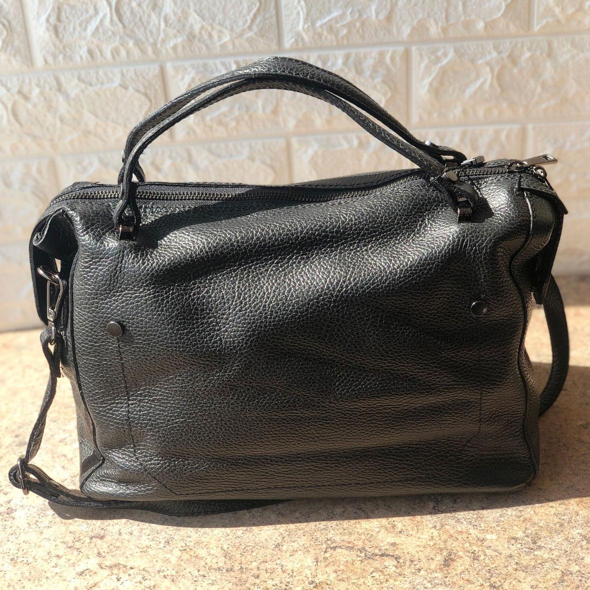 Женская сумка кожаная Virginia Conti Черная