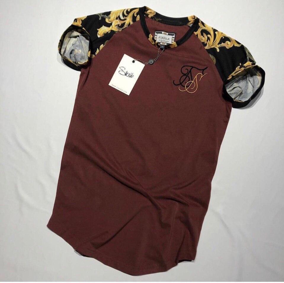 Мужская футболка Sik Silk M108 коричневая