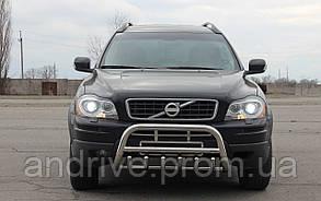 Кенгурятник з грилем (захист переднього бампера) Volvo XC-90 2002-2014