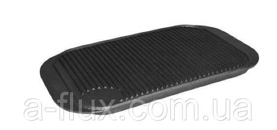 Жарочная поверхность чугунная двухсторонняя (гладкая/рифленая) 480x260 мм Stalgast (h-20 мм, 4,35 кг)