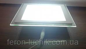 Светильник LED 12w 5000К Feron AL2111 светодиодный потолочный встраиваемый со стеклом