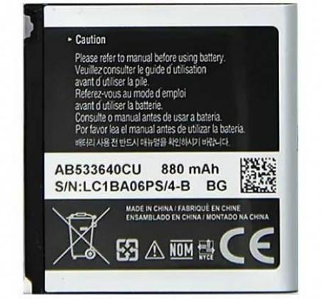 Аккумулятор для Samsung AB533640CU 880 mAh для S3600/F330/G400/G600 Premium качество, фото 2
