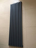 Радиатор дизайнерский вертикальный  Rimini 8/1500 Антрацит матовый 1500*470