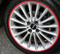 Защита литых дисков красного цвета R17-R18