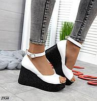 Изящные женские босоножки на платформе открытые туфли, фото 1