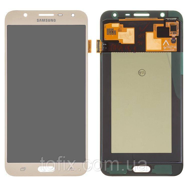 Дисплейный модуль (экран и сенсор) для Samsung Galaxy J7 Neo J701, золотистый, оригинал #GH97-20904B