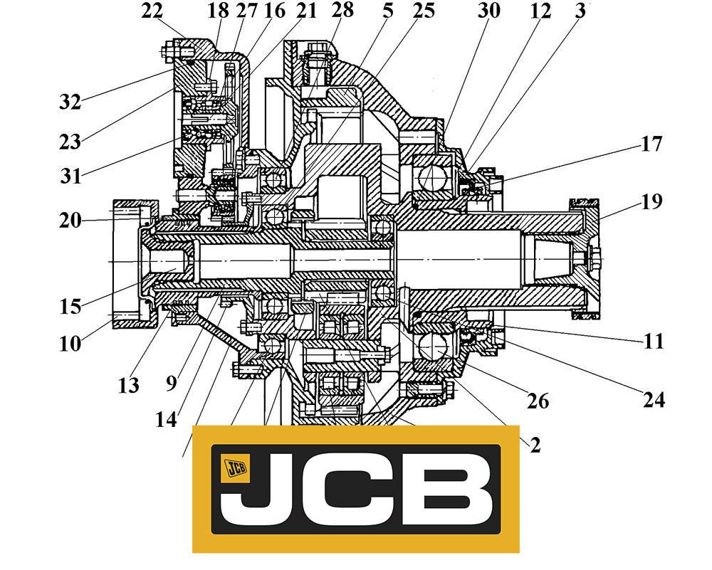 Бортовая передача для спецтехники JCB