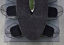 Кресло металлическое для отдыха LEAF большое напоминающий прожилки листьев
