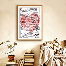 Плакат постер на стену Кохаю тебе на украинском
