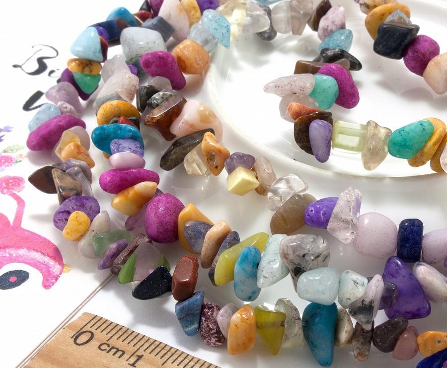 """Крошка (сколы) из натурального камня """"Микс камней"""" (без замочка!) длина ≈85см"""