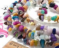 """Крошка (сколы) из натурального камня """"Микс камней"""" (без замочка!) длина ≈85см, фото 1"""