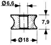 Ролик иглы пресс-подборщика 6х18мм.