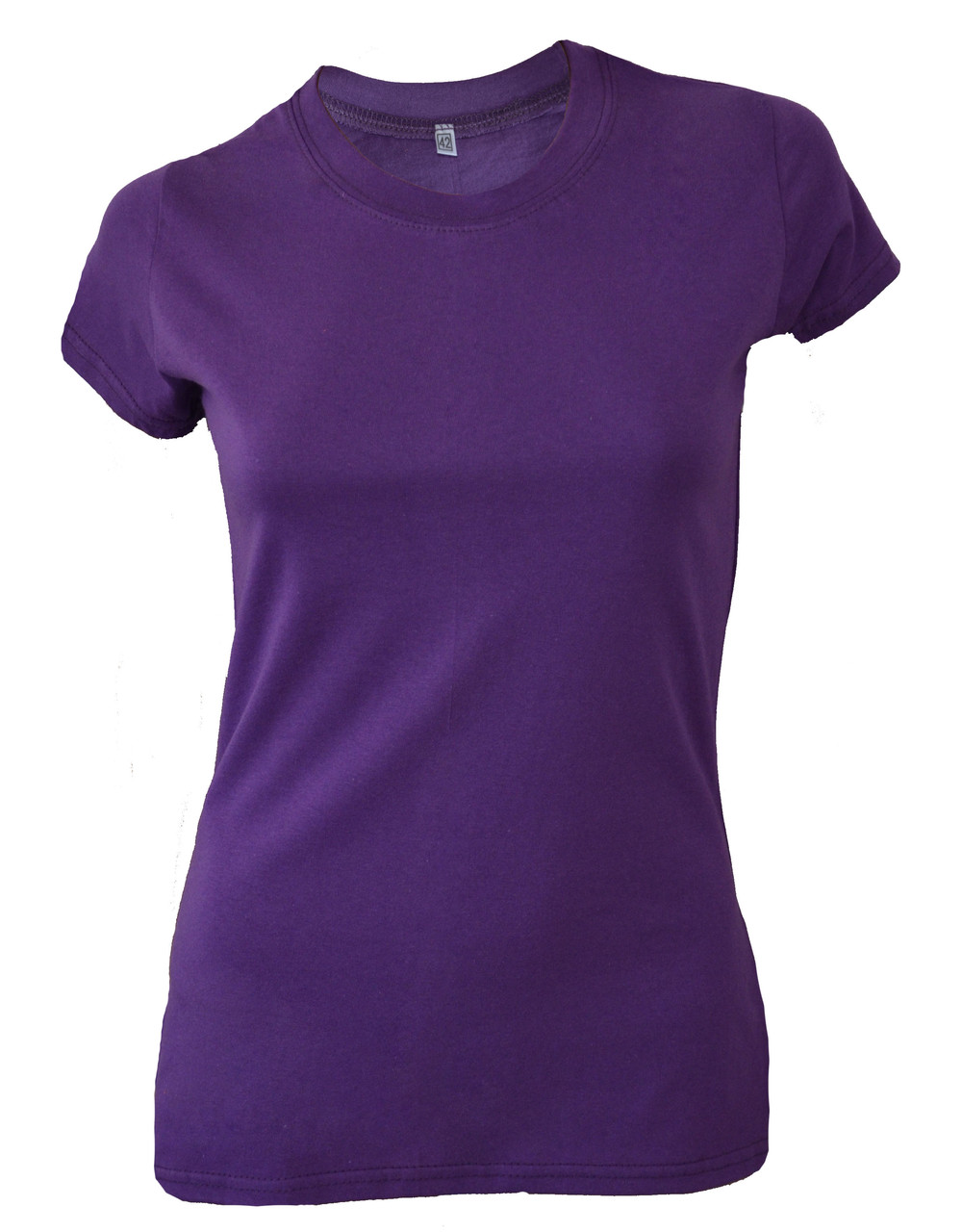Футболка женская фиолетовая с разрезами по бокам оптом