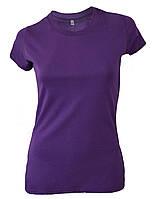 Футболка женская фиолетовая с разрезами по бокам оптом, фото 1