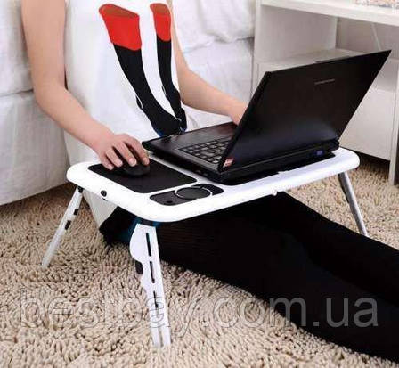 Складной столик-подставка для ноутбука с кулером E-Table LD09, фото 2