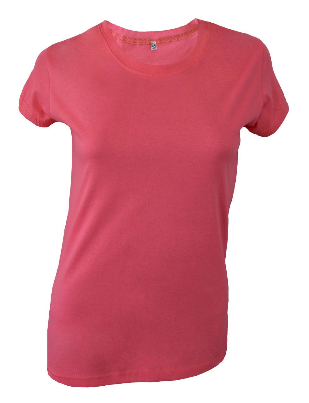 Футболка женская розовая с разрезами по бокам оптом