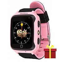 """★Смарт-часы UWatch Q529 Pink для детей с геолокацией по GPS трекеру цветной экран 1.44"""" Android IOS 400 mAh"""