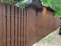 Профнастил с декорпокрытием Printech под дерево цвет орех в Запорожье, фото 9