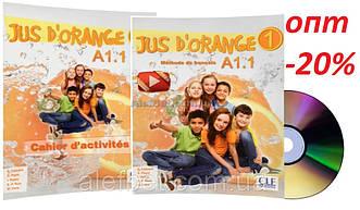 Французский язык /Jus D'orange/ Livre+Cahier d'activites. Учебник+Тетрадь (комплект), A1.1 / CLE