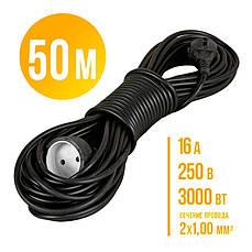 Удлинитель-переноска 50м. Украина. (сечение провода 2*1,0мм² ГОСТ.)16А 250 В 3000 Вт