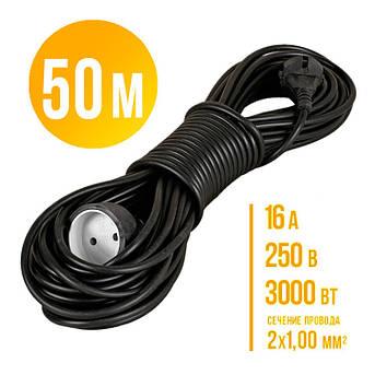 Удлинитель-переноска 50м. Украина. (сечение провода 2*1,0мм² ГОСТ.)16А 250 В 3000 Вт, фото 2