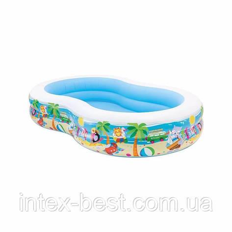 """Детский надувной бассейн """"Райская Лагуна"""" Intex 56490 (262х160х46 см.), фото 2"""